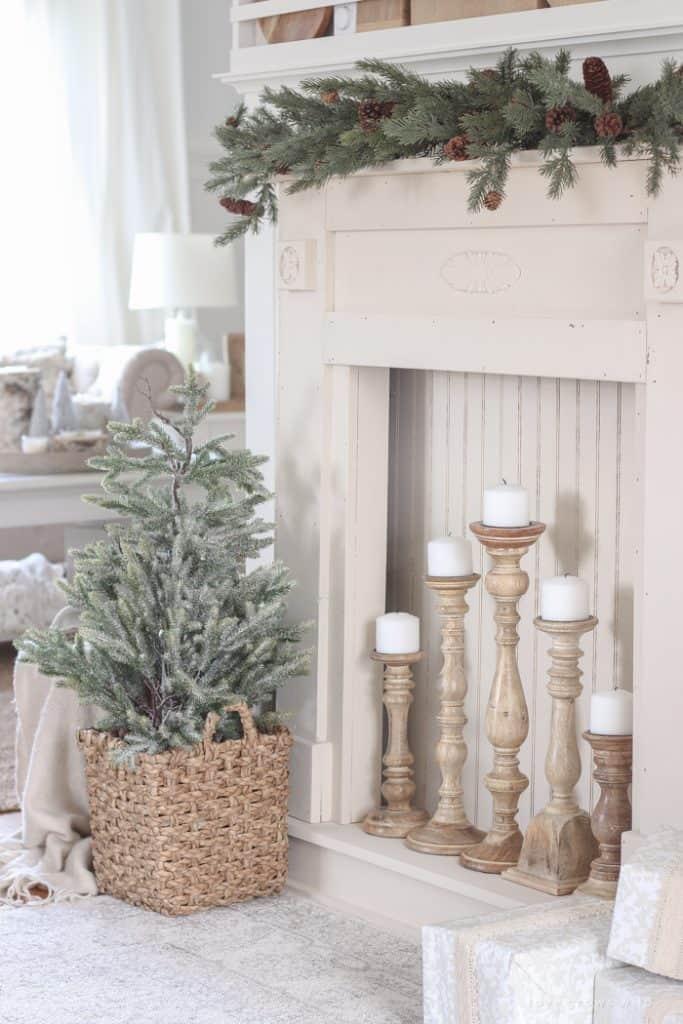 decorazioni invernali nel soggiorno