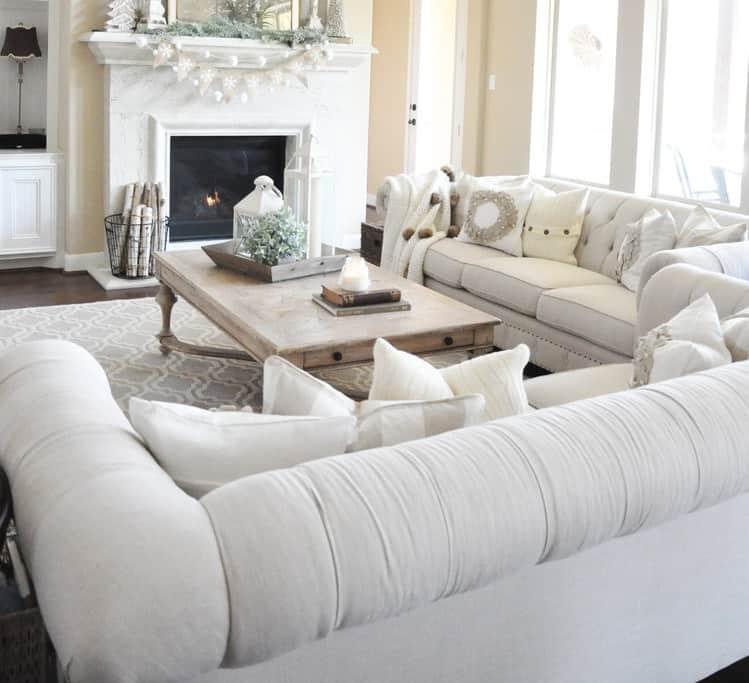 decorazioni invernali in soggiorno