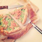 Torta di broccoli e salmone