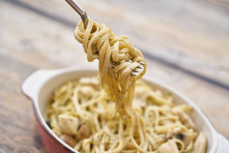 spaghetti in crema di noci