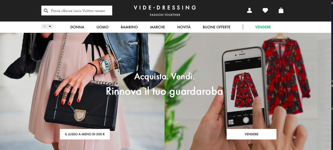 Acquistare moda di seconda mano online