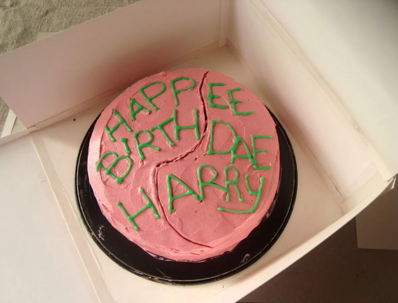 torta festa a tema harry potter
