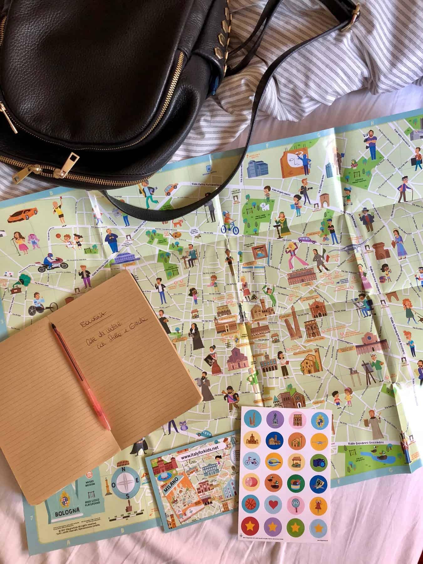 Italy for kids Mappa illustrata