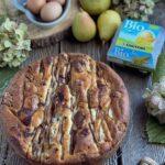 Torta di pere cioccolato e noci