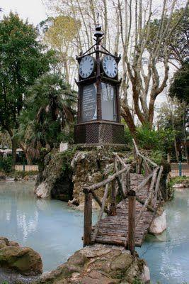 L'orologio ad acqua al Pincio di Roma