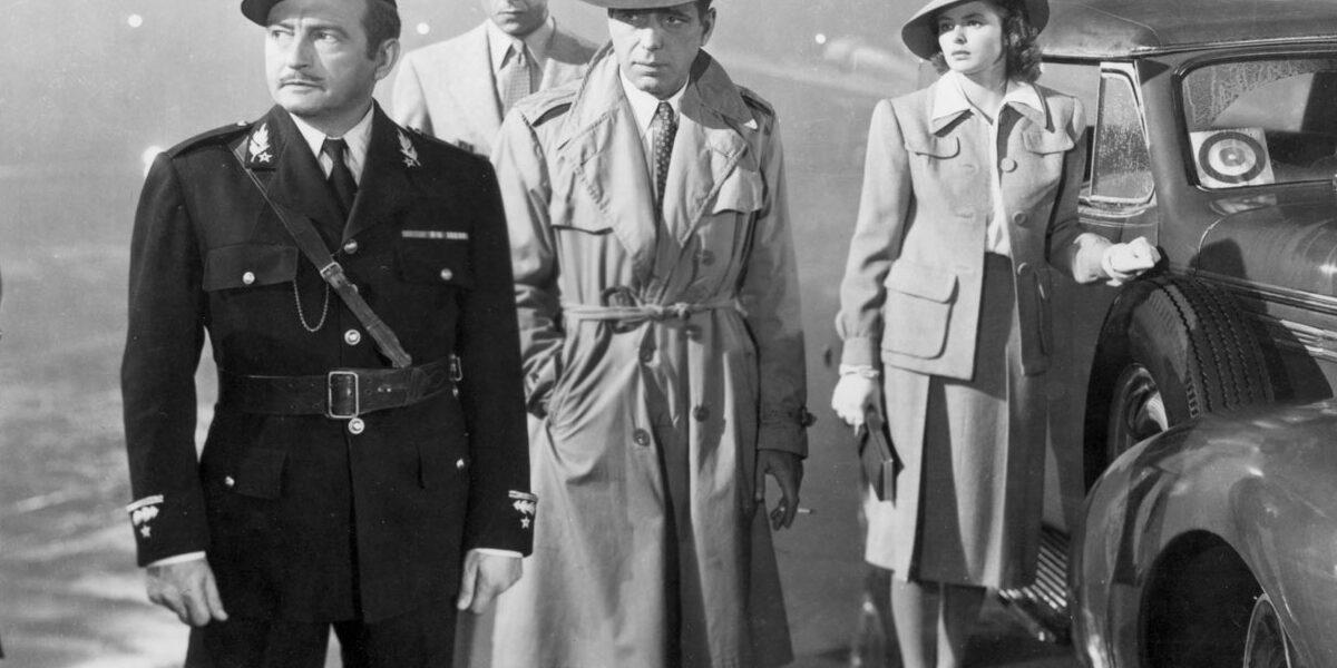Humphrey Bogart in Casablanca trench