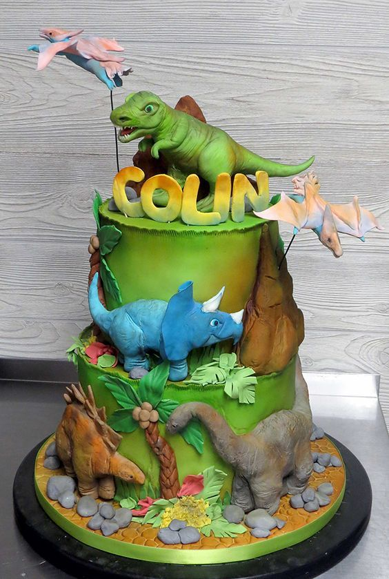 torta Festa a tema dinosauri